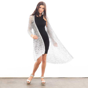"alt=""kimono cover up silver color by escama studio"""