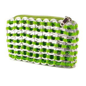 "alt=""coin purse neon green and silver color by Escama Studio"""