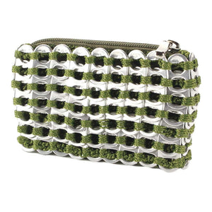 "alt=""olive green coin pouch from soda can tabs by Escama Studio"""