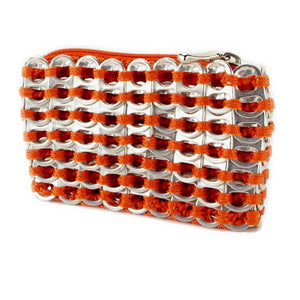 "alt=""cute coin purse orange color made from soda tabs by Escama Studio"""