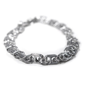 "alt=""thick chain link necklace  from recycled aluminum from Escama Studio"""