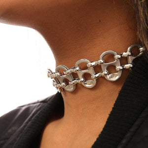 "alt=""womens choker necklace aluminum, recycled jewelry by Escama Studio"""