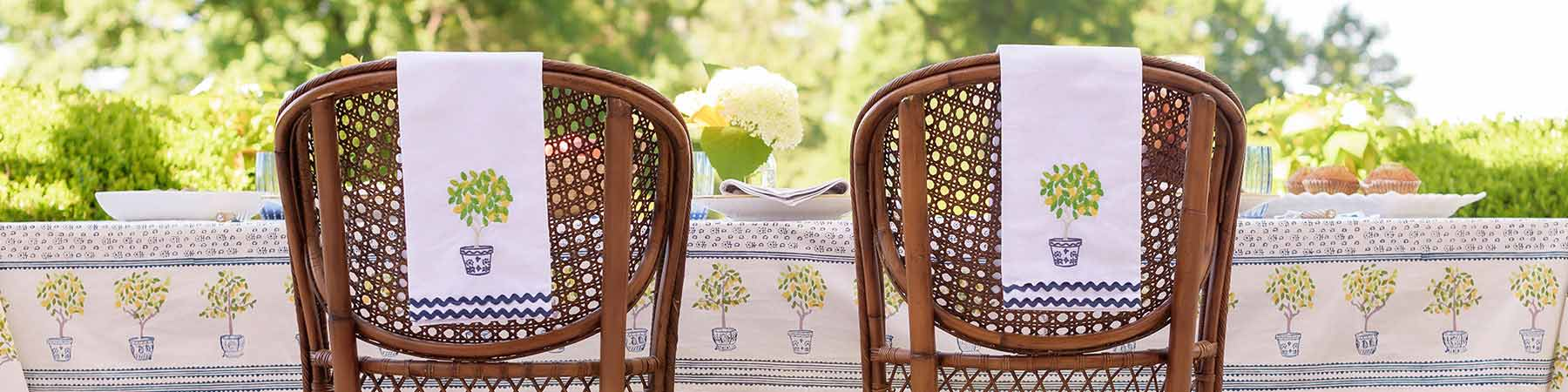 Embroidered Tea Towel Collection Banner