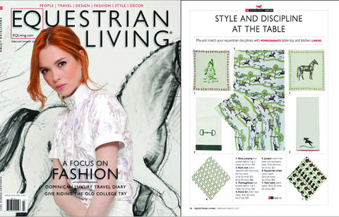 Equestrian Living Pomegranate textiles feature