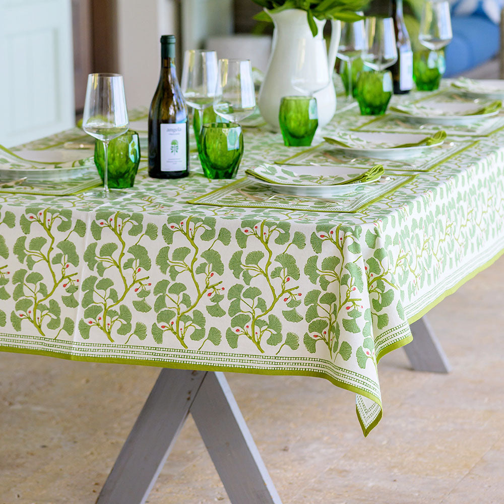 shop new spring ginkgo table linens