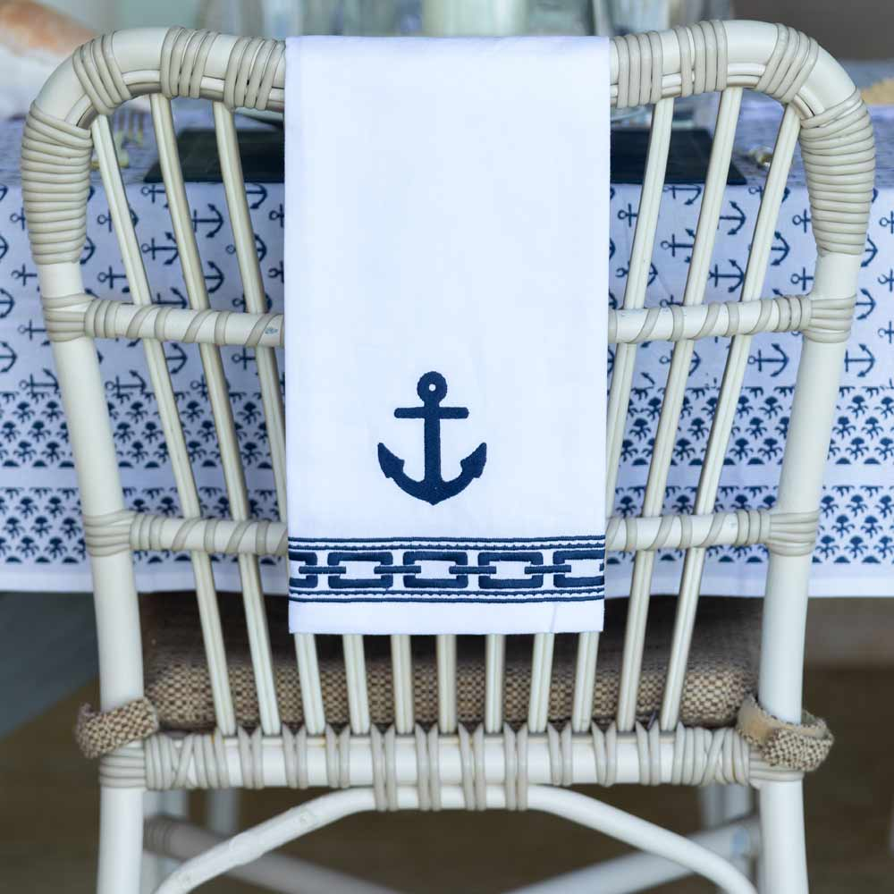 Ahoy Embroidered Hand Towel | set/2