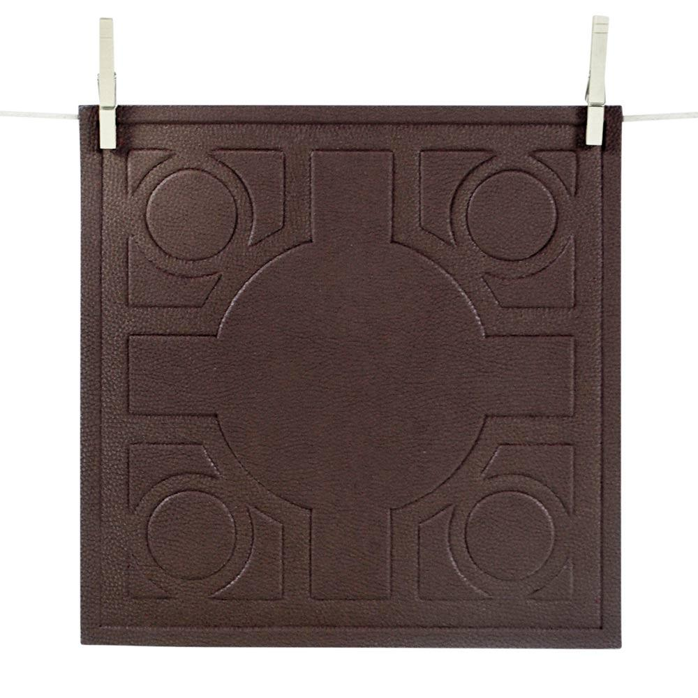Baldwin Brown Vegan Leather Placemat Set of 4