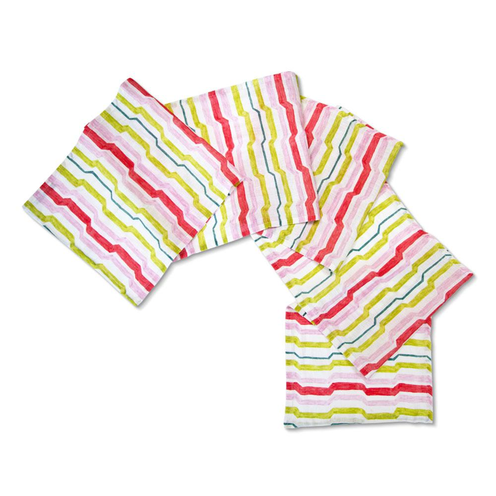 Citrus Multi Mod Stripe Table Runner
