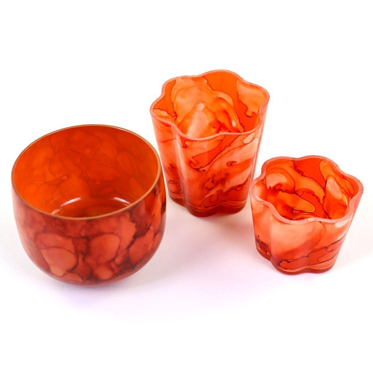 Coral Globe Votive|Set of 2