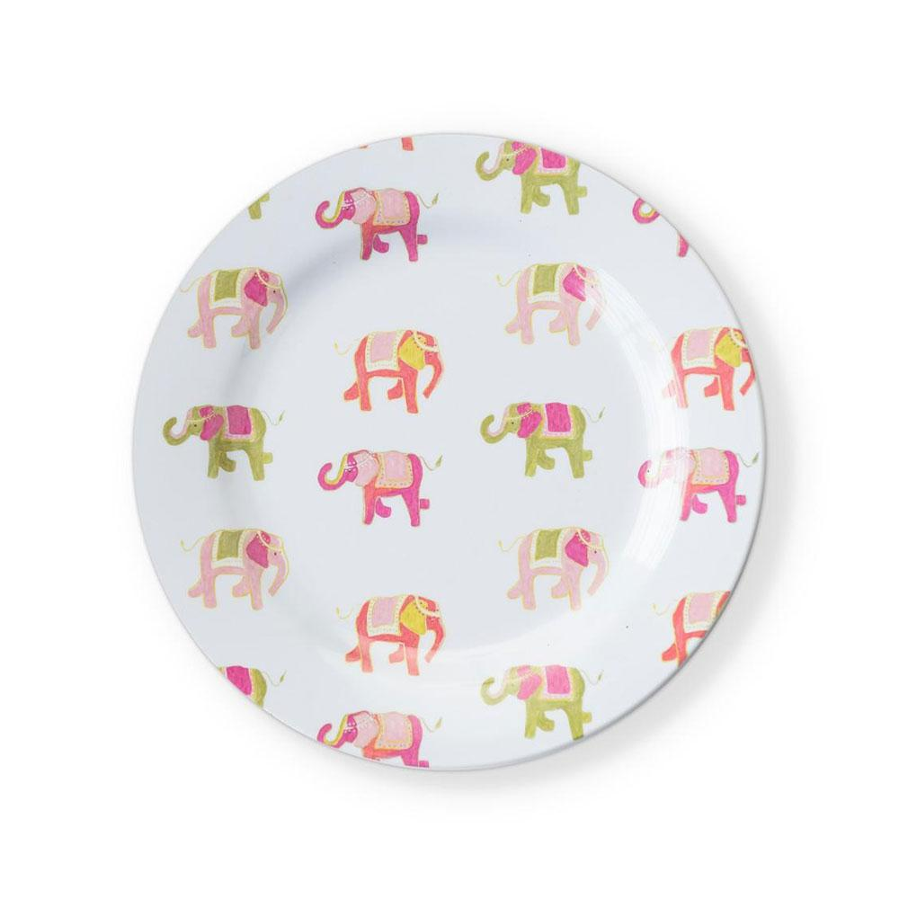 Elephant March Melamine Luncheon Plates (Set of 6)