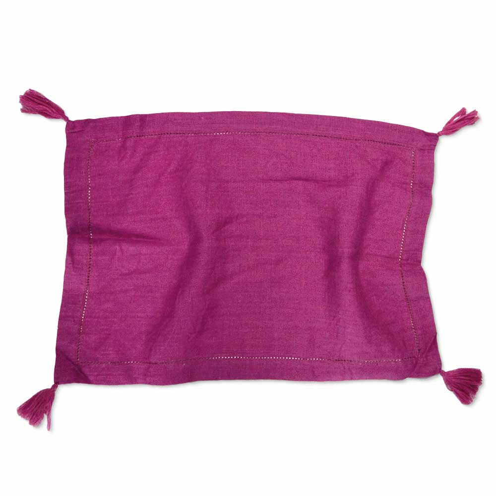 Fuchsia Linen Placemat | Set of 4