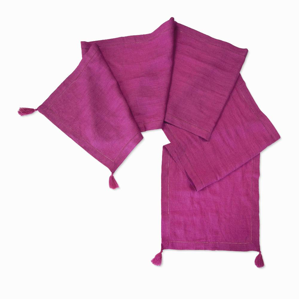 Fuchsia Linen Table Runner