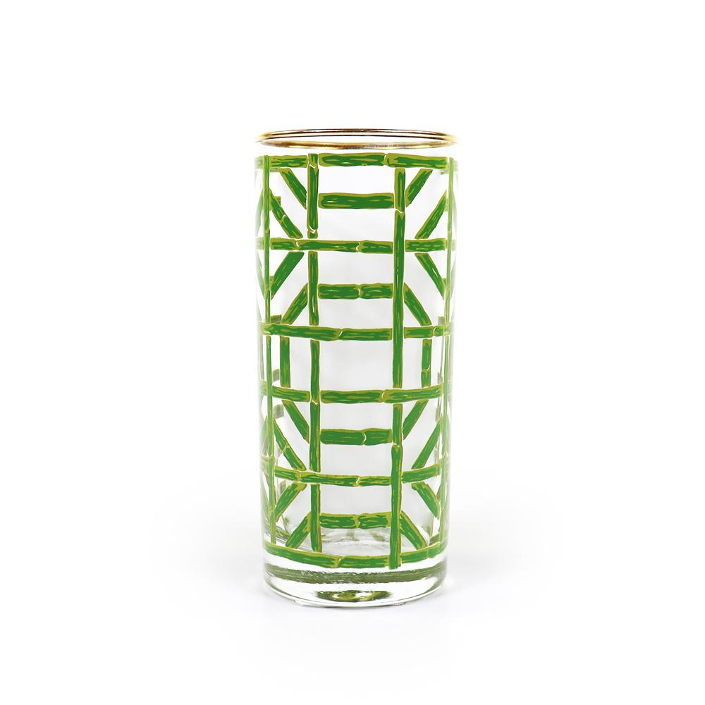Green Bamboo Drinking Glass | set/4