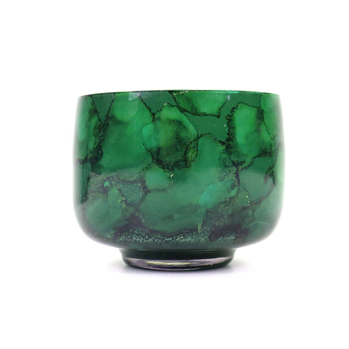 Malachite Globe Votive | Set 2