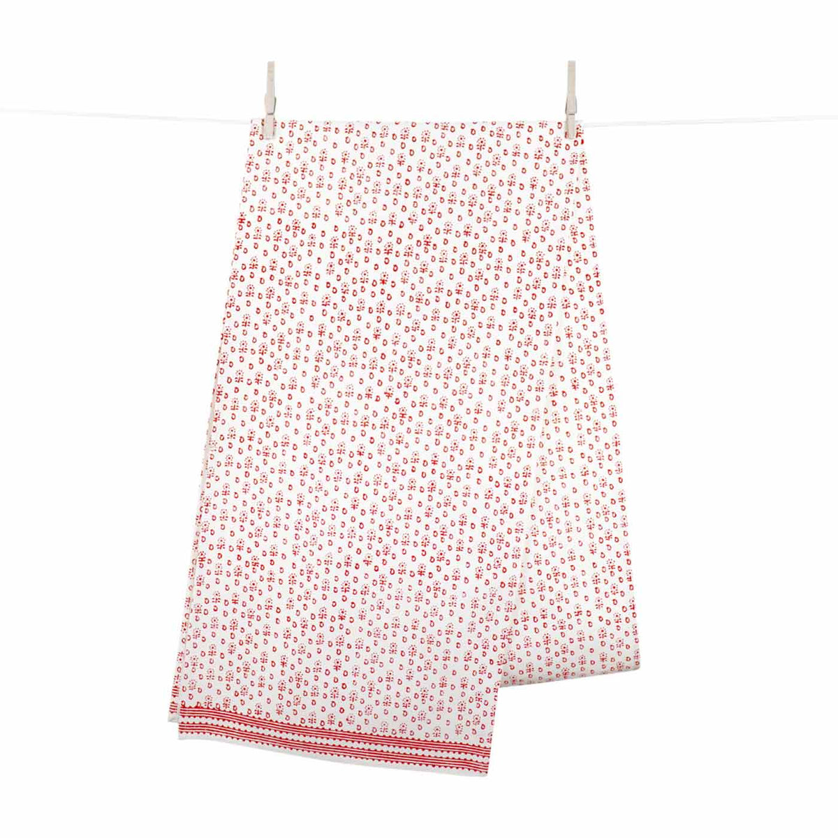 Modern Bandana Red Table Runner