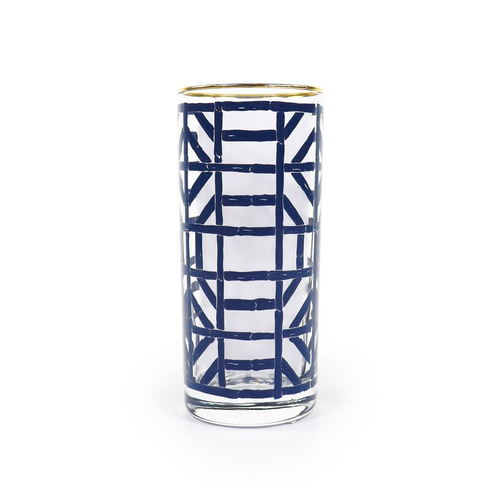 Navy Bamboo Drinking Glass | Set 4