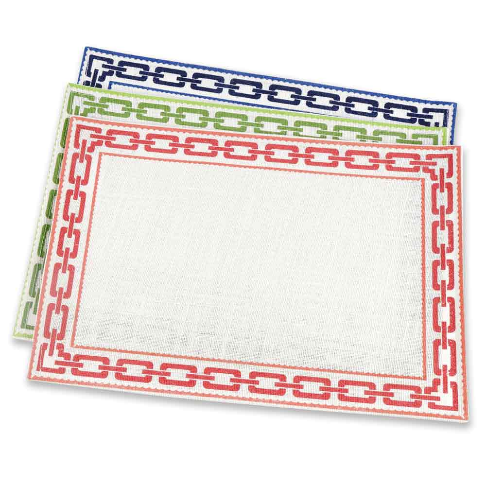 Red Chain Jute Placemat | Set 4