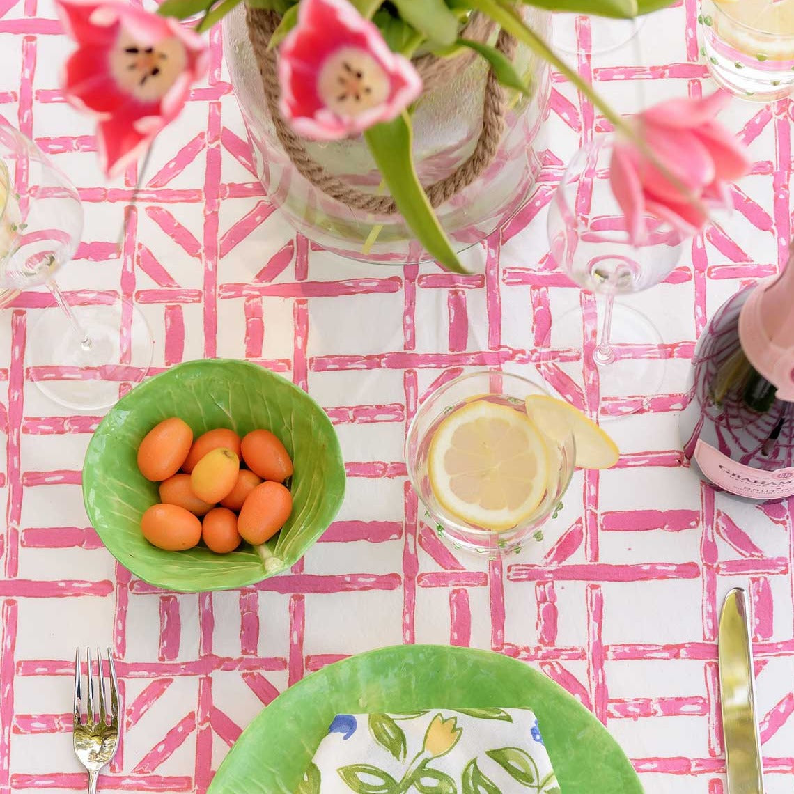 Rose Bamboo Tablecloth