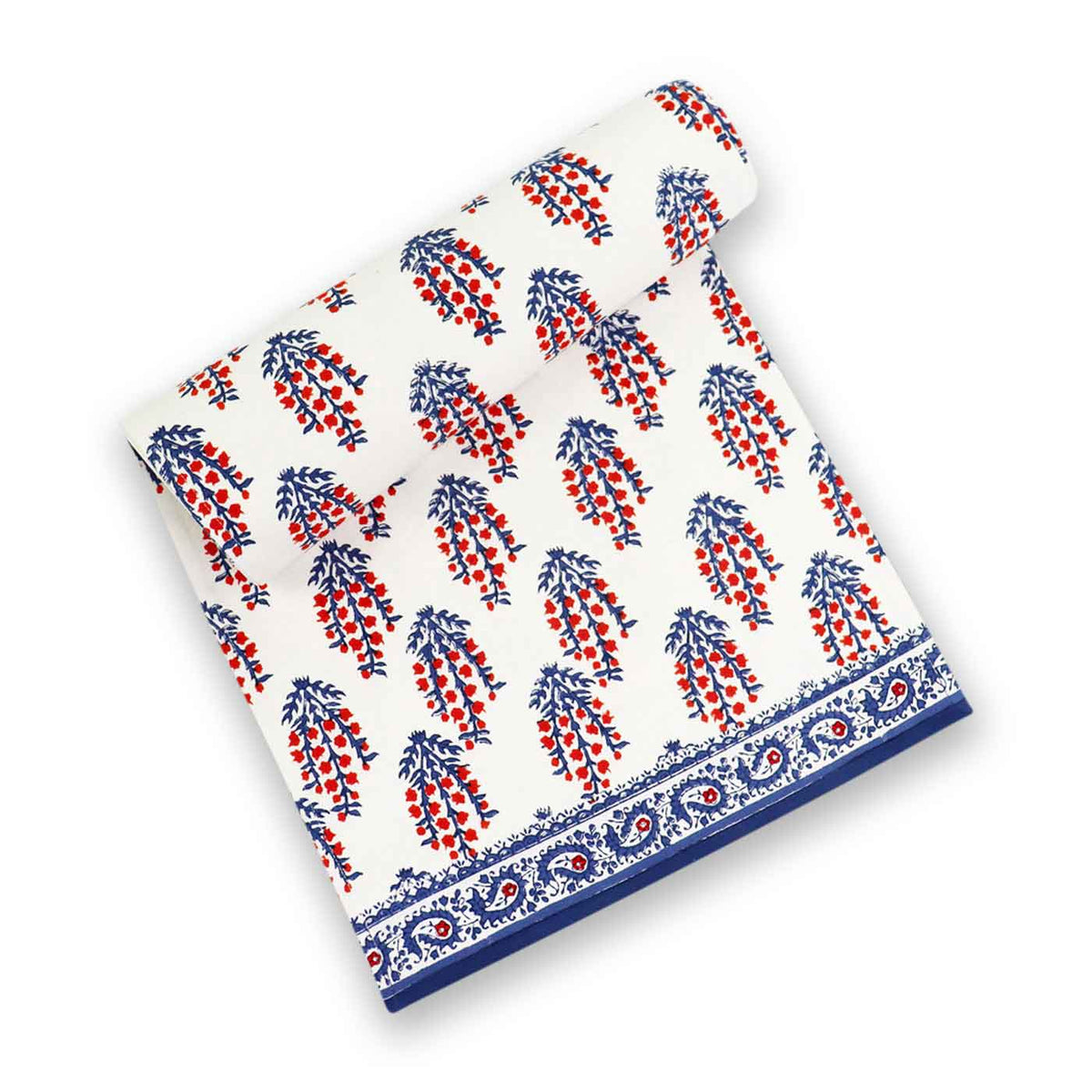 Sagar Red & Blue Table Runner