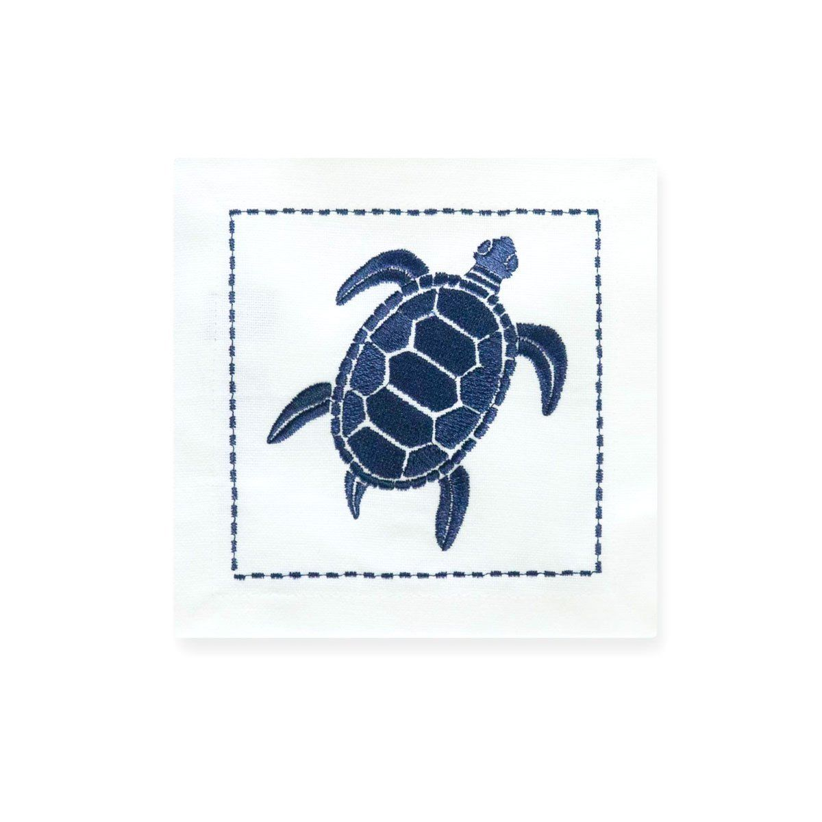 Sea Turtle Embroidered Cocktail Napkin | Set of 6