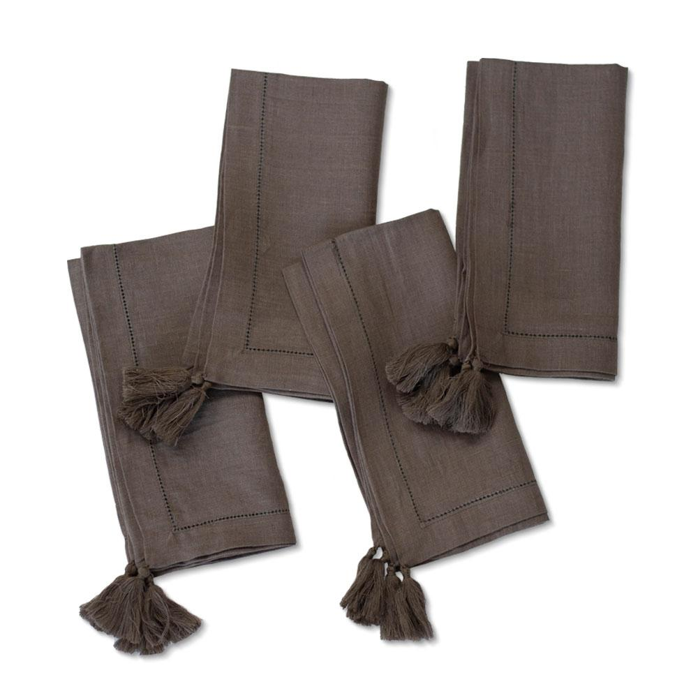 Smoke Linen Napkin|Set of 4