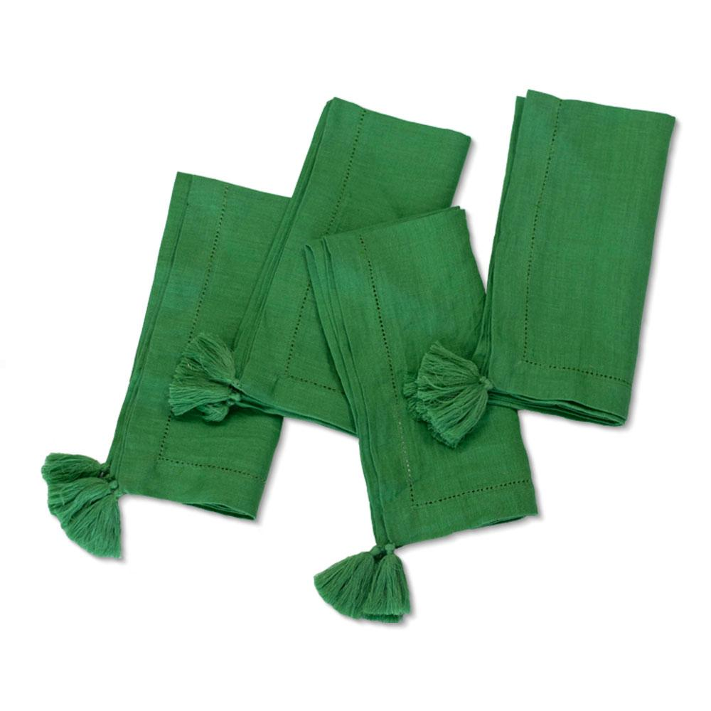 Solid Green Linen Napkin (Set of 4)