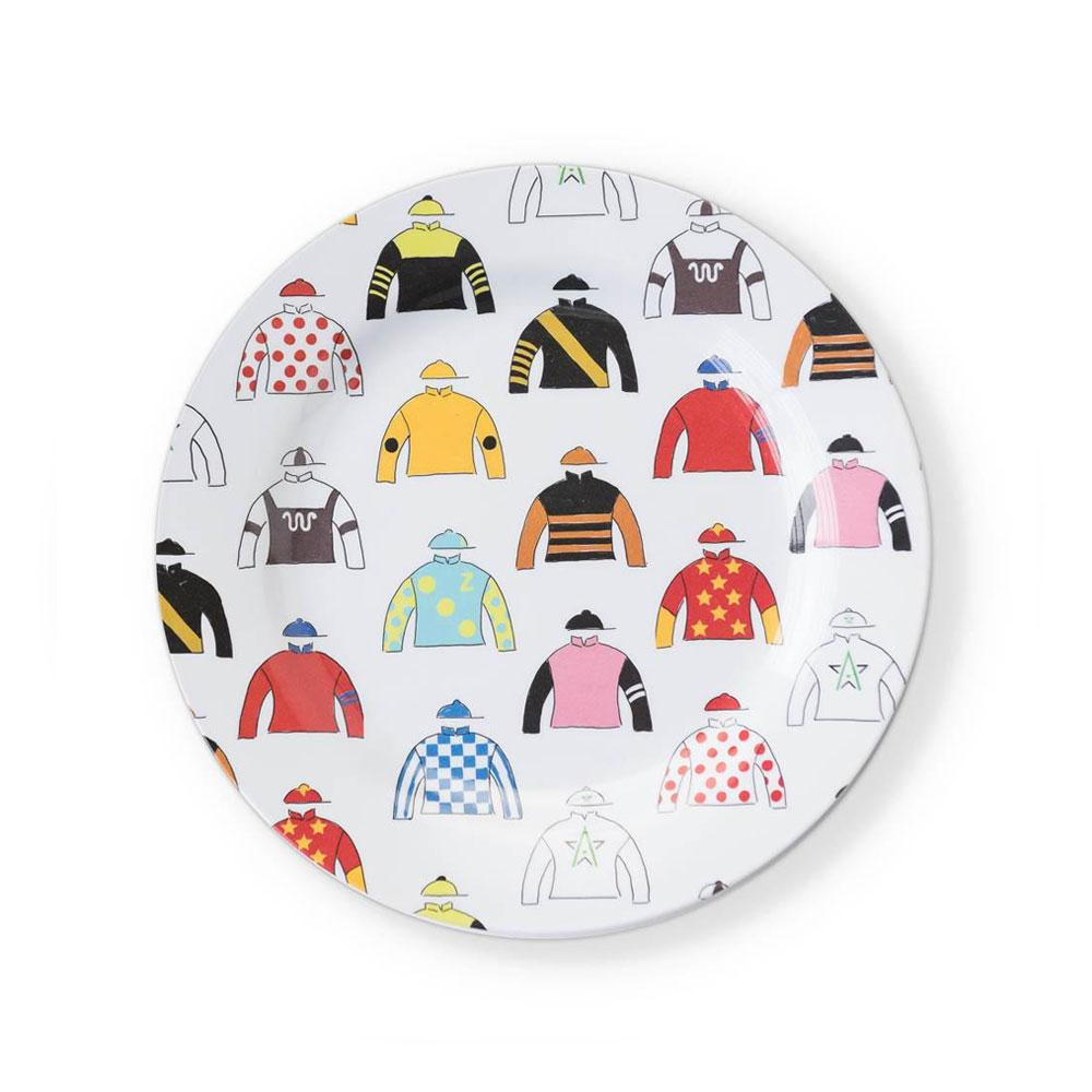Triple Crown Melamine Luncheon Plates (Set of 6)