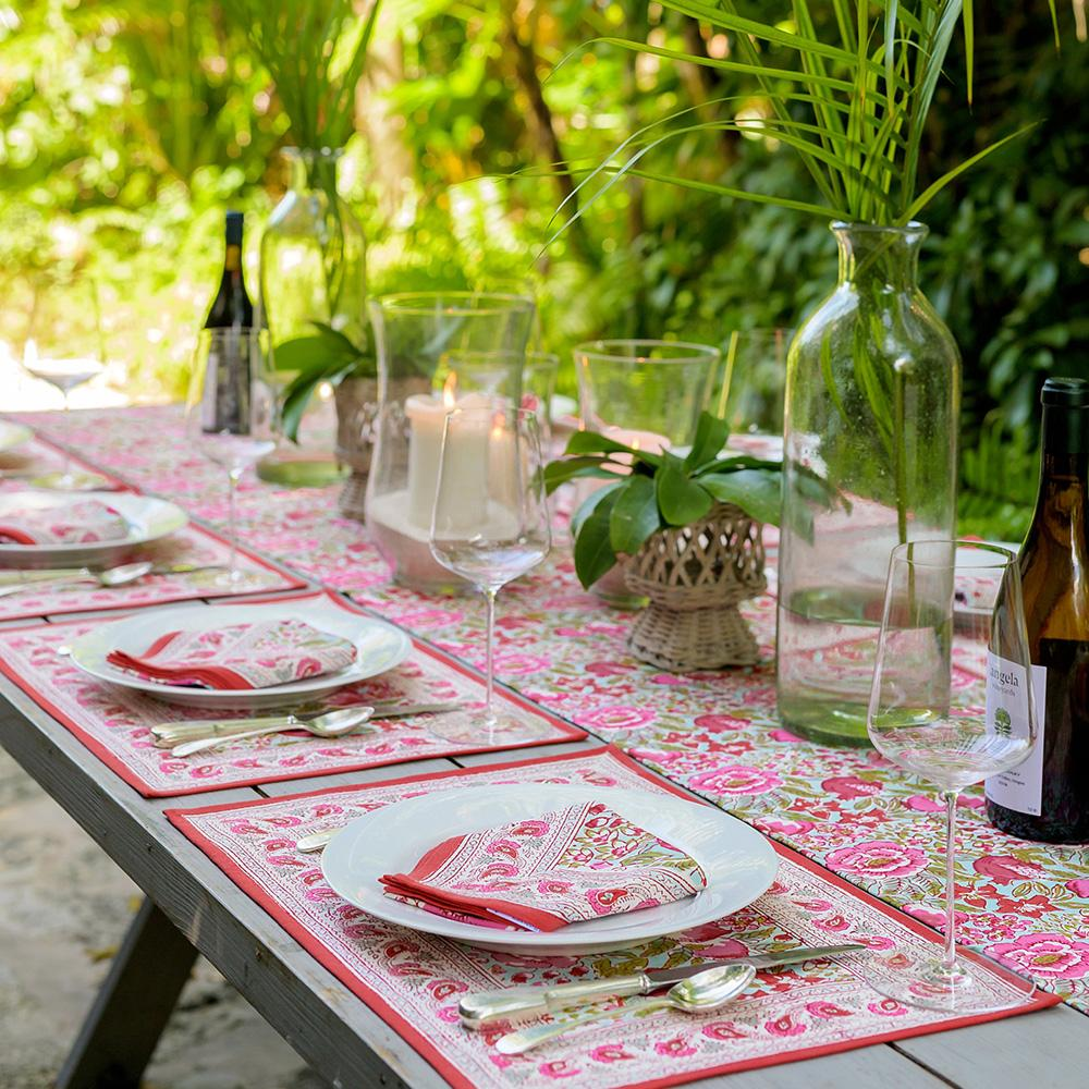 Wildflower Garden Table Runner