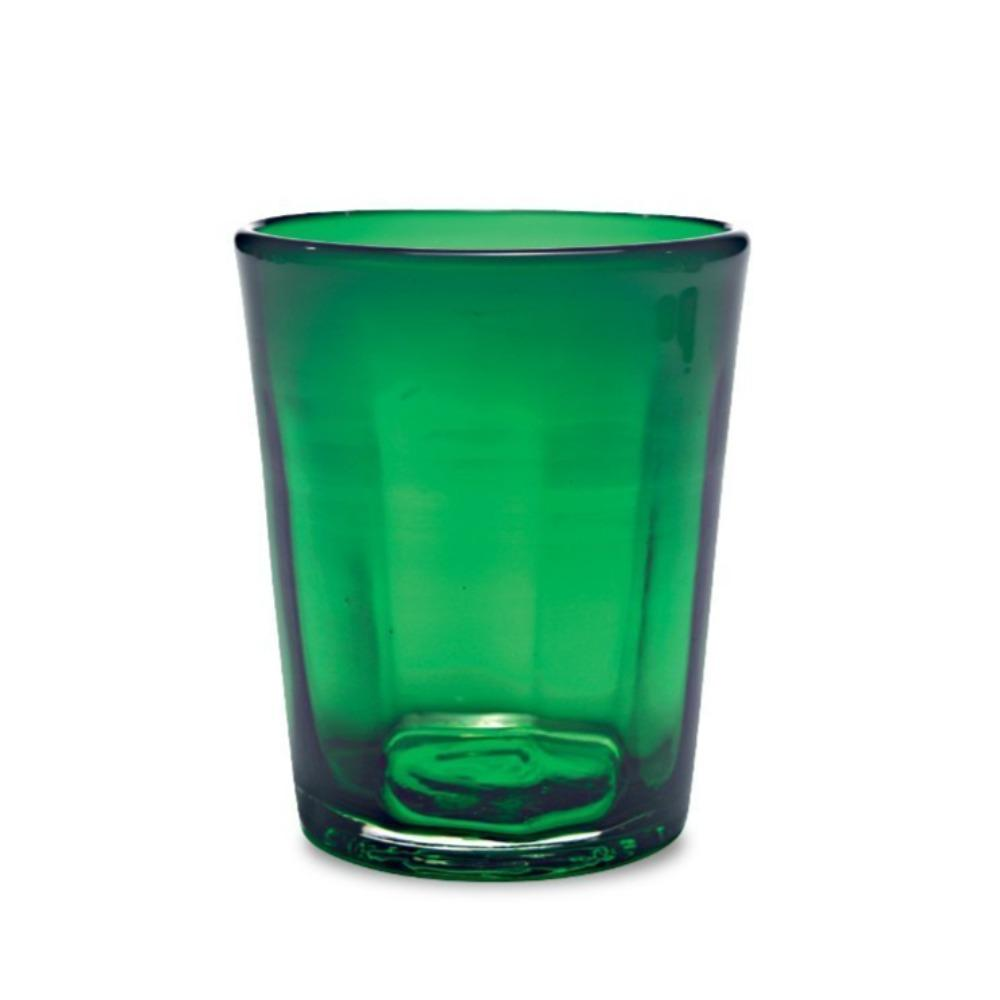 fern green colored drinking glass