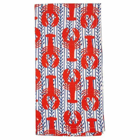 Lobster and Vine Cotton Tea Towel (Set of 2)