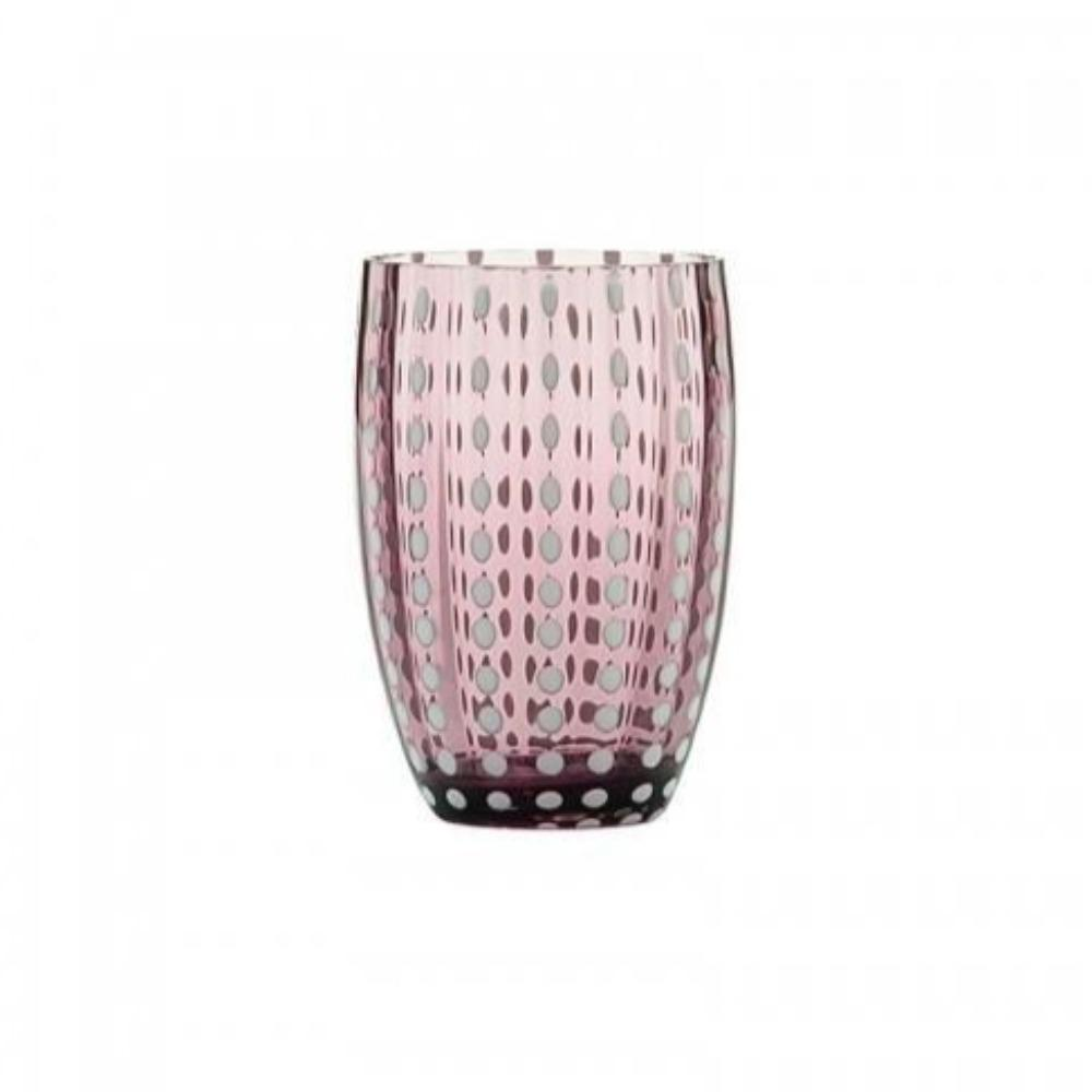 Dapple Glass Tumbler Plum