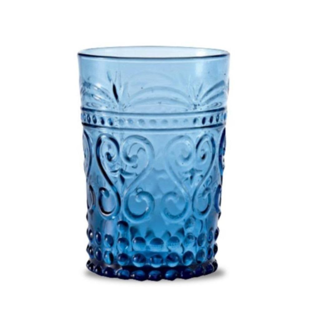 Modern Pressed Juice Glass-Ocean Storm Blue