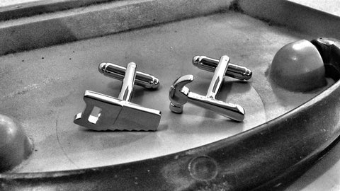 Handsaw and Hammer Cufflinks