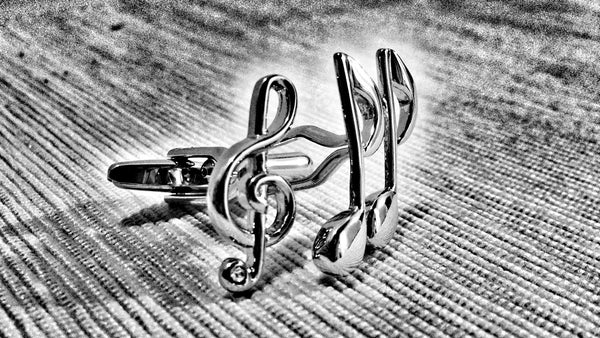 Treble Clef and Eighth Note Cufflinks