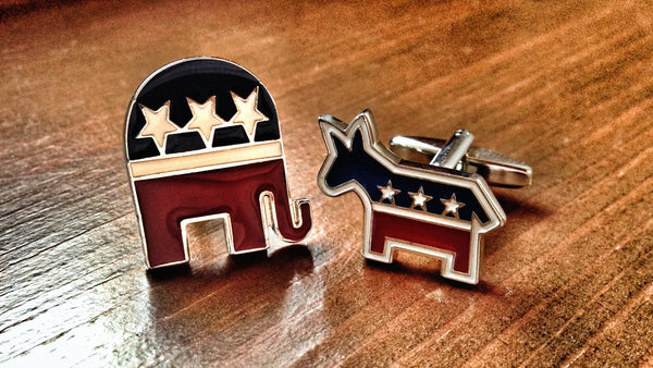 Democratic Donkey and Republican Elephant