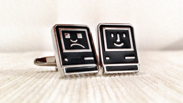 Black Smiling and Smirking Mac Cufflinks