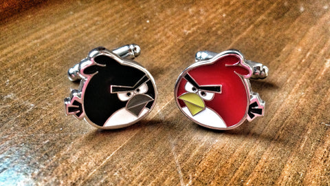 Two Angry Birds Cufflinks