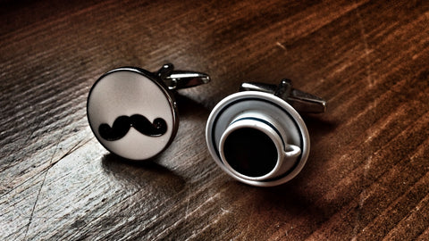Moustache and Coffee Cup Cufflinks