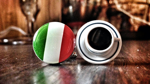 Addicted to Italian Coffee Cufflinks