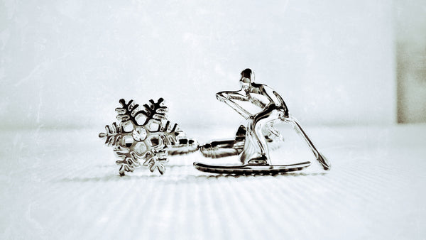 Black Diamond Skier Cufflinks