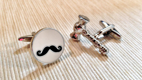 Mustached Judge Cufflinks