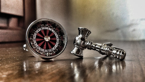Roulette and Gavel Cufflinks