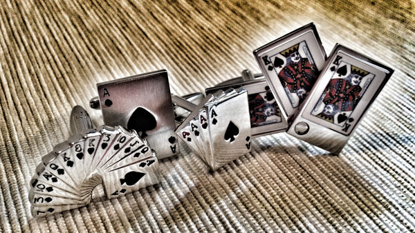 Playing Cards Cufflink Set