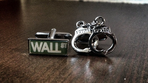White Collar Criminal Cufflinks