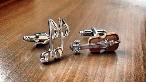 Note and Violin Cufflinks