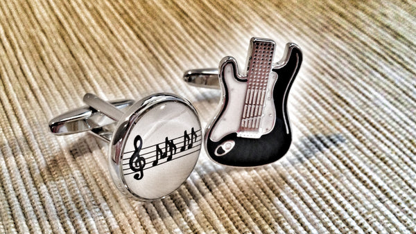 Bass Guitarist Cufflinks