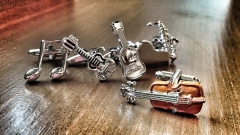 Musical Instruments Cufflink Set