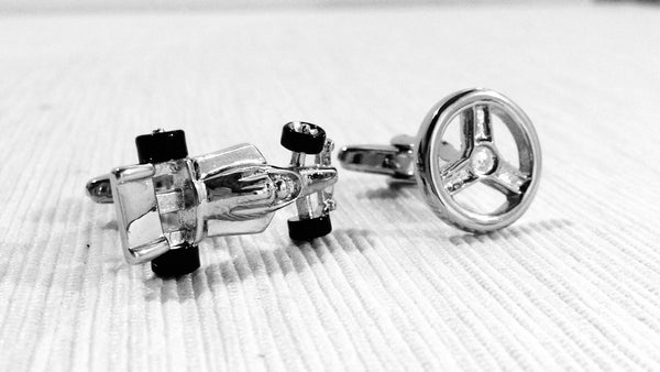 Pretend to be an F1 Racer Cufflinks