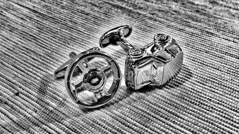 Automobile and Steering Wheel Cufflinks