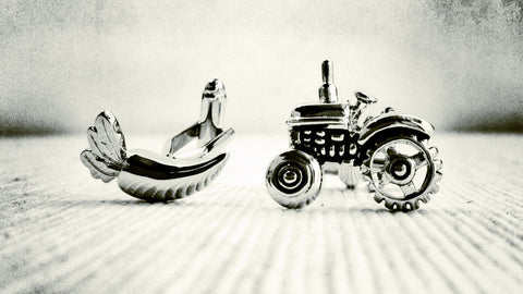 Carrot and Tractor Cufflinks